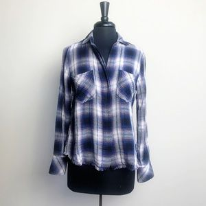 CLOTH & STONE NWOT Raw Hem Flannel